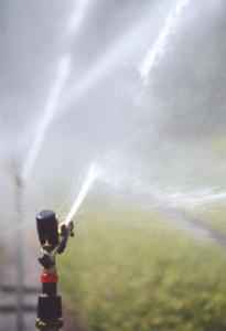 Water geven met sproeiers