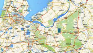Kaart midden Nederland